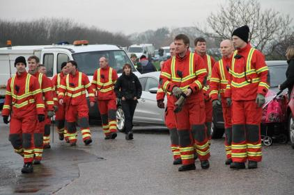 Experienced rescuers joined local residents in the search.